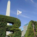 Inauguraron un jardín vertical gigante frente al Obelisco porteño